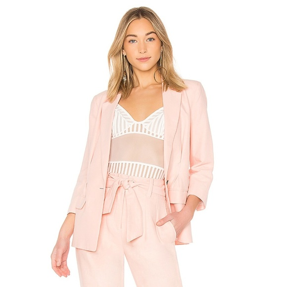 Joie Jackets & Blazers - Joie Lian Cotton-Linen Blazer Jacket Washed Rose